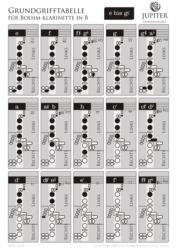 17 teilige Klarinetten Tastenfelder Kissenersatzteile für Sopran B Klarinette
